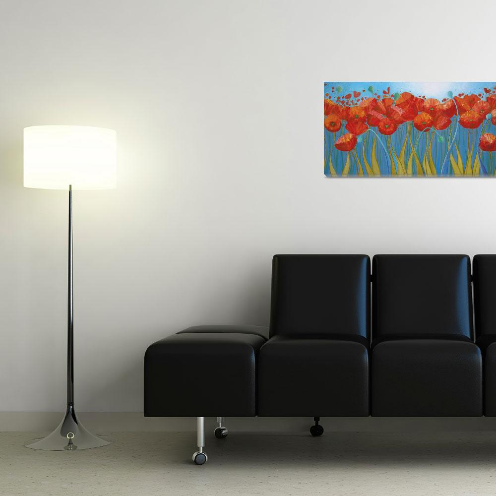 """Summer Poppies""  (2010) by DreamGallery"