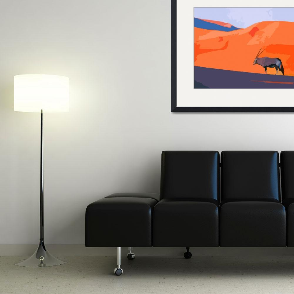 """""""African Oryx&quot  (2010) by whitewallgallery"""