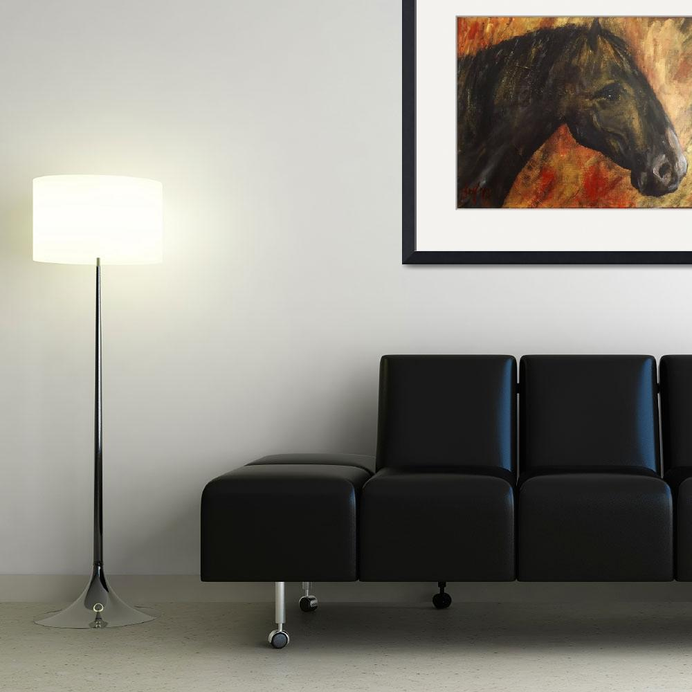 """""""black horse&quot  (2013) by gallerymay"""