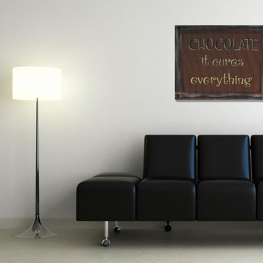 """""""Chocolate Sign (Dark Brown)&quot  (2013) by PjCreates"""