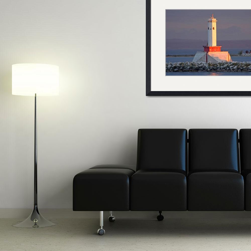"""""""Round Island Lighthouse&quot  (2006) by WilrosePhotography"""