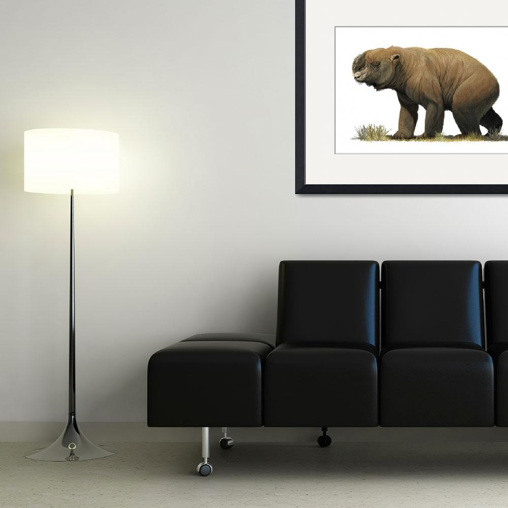 """""""Diprotodon optatum, the largest known marsupial""""  by stocktrekimages"""