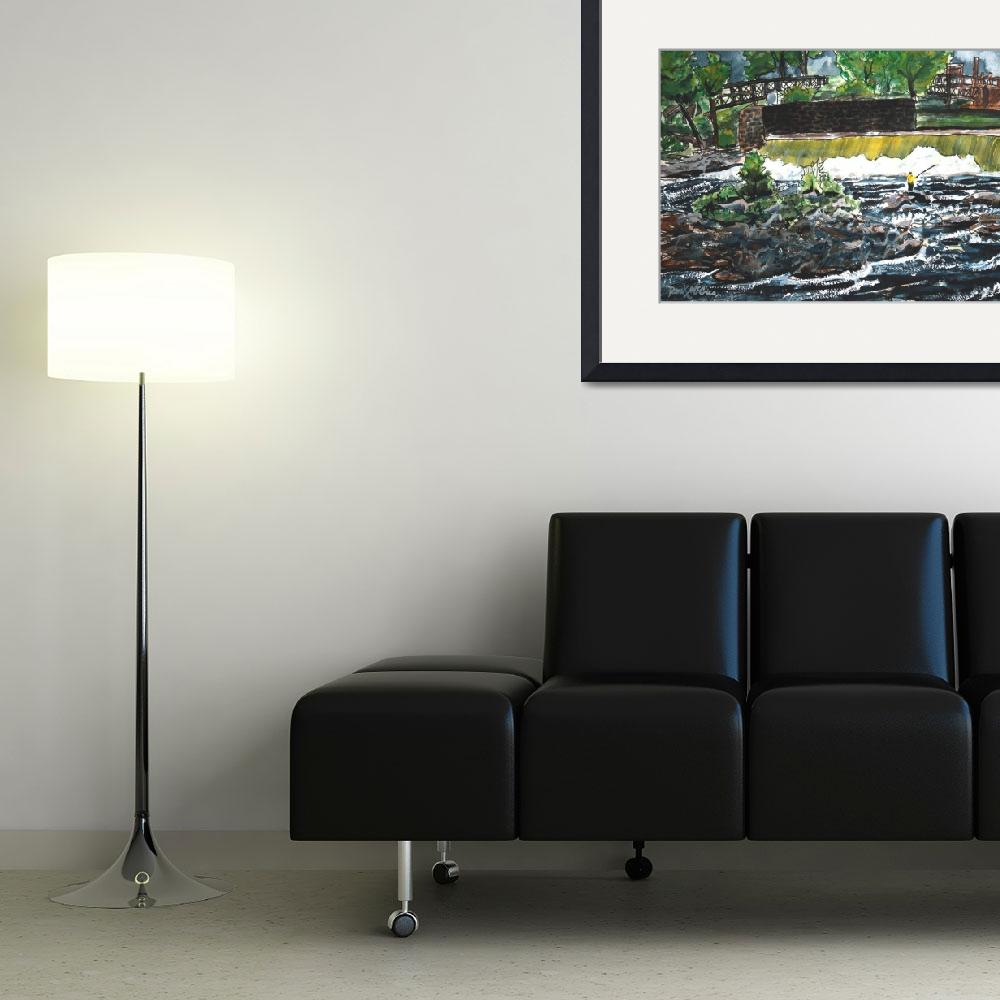 """fishing painting art print&quot  (2009) by derekmccrea"