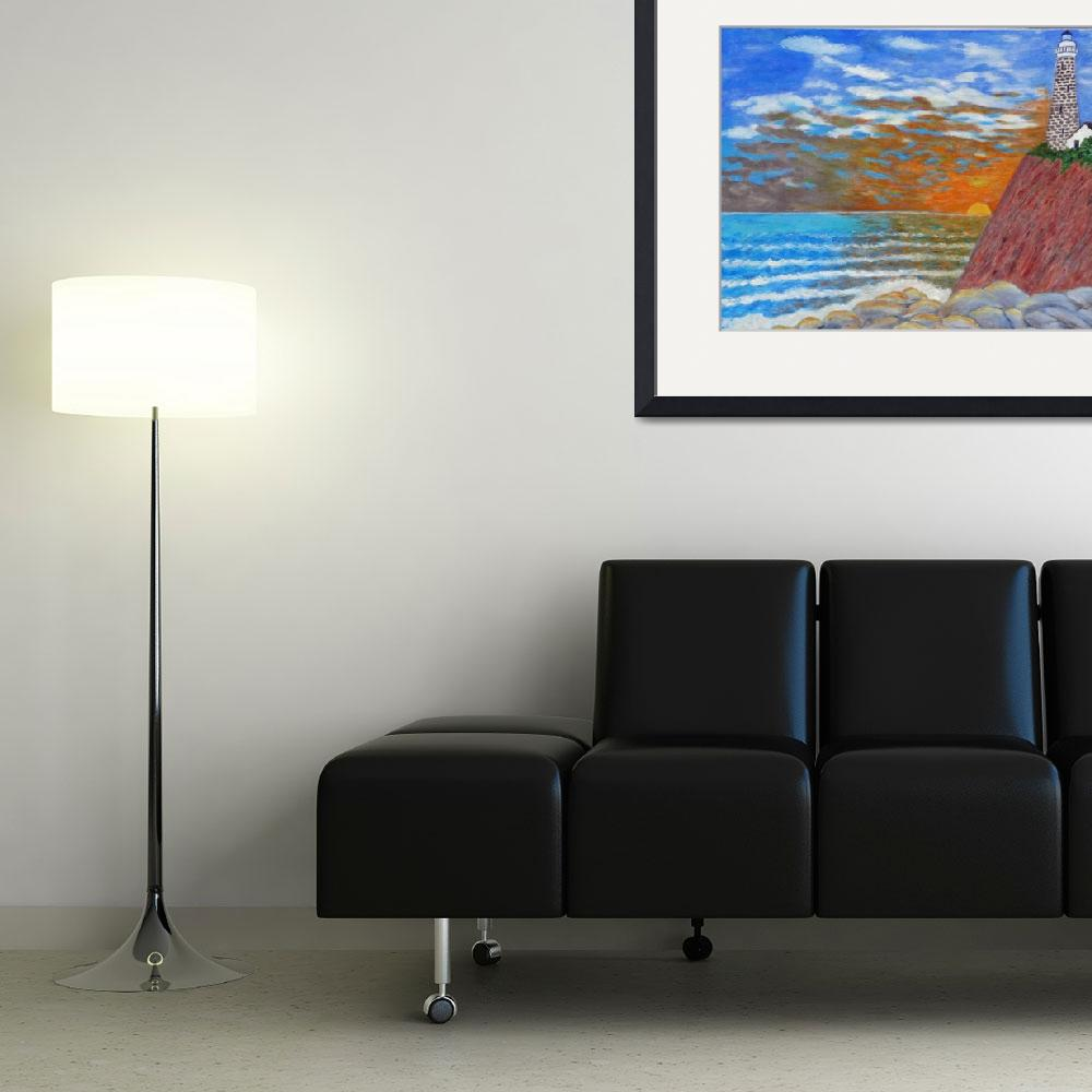 """""""Ocean Sunset""""  (2009) by marycollins"""