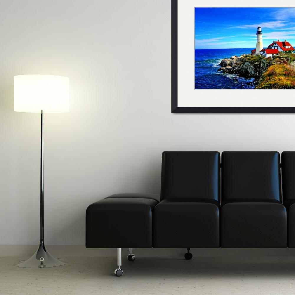 """""""Portland Head Light in Maine""""  by New-Yorkled"""