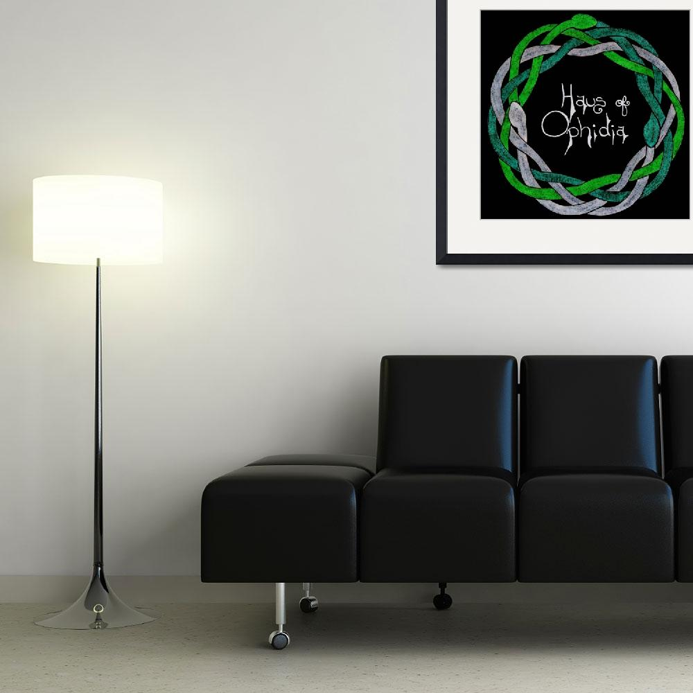 """""""Haus of Ophidia Celtic Knotwork Logo""""  (2014) by Haus_of_Ophidia"""