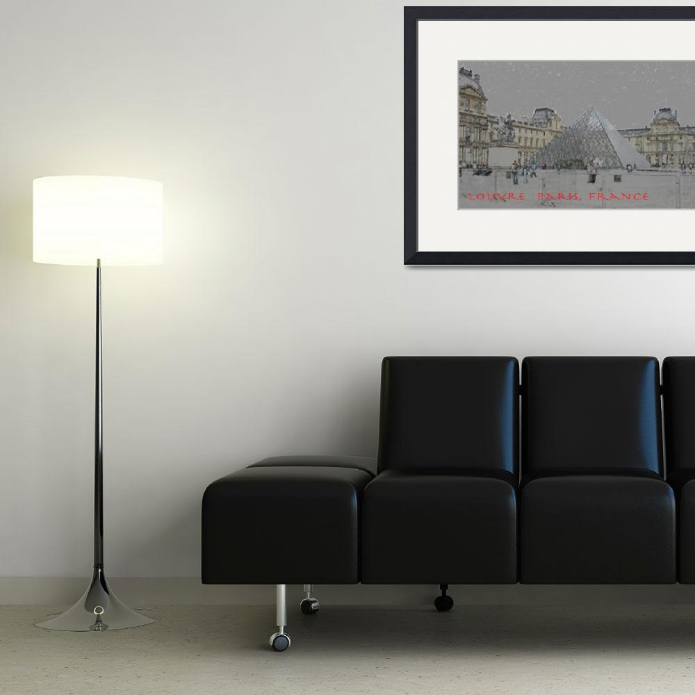 """""""louvre poster lg&quot  (2011) by peopleplus"""