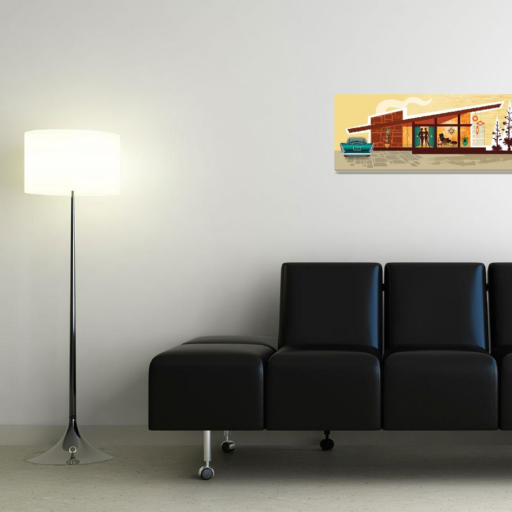 """""""Mid Century Modern House   Gay Women   Angle Roof""""  by DianeDempseyDesign"""