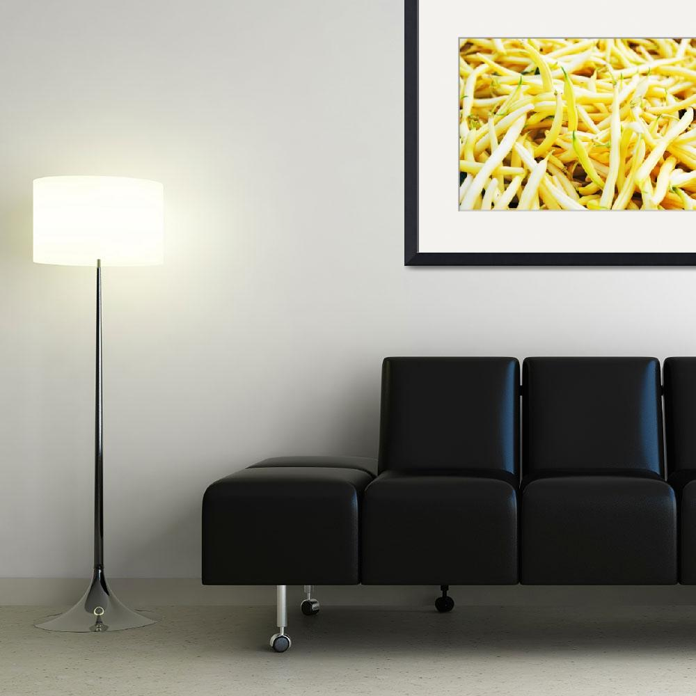 """""""Yellow String Beans All Over&quot  (2010) by TheHiddenStudio"""