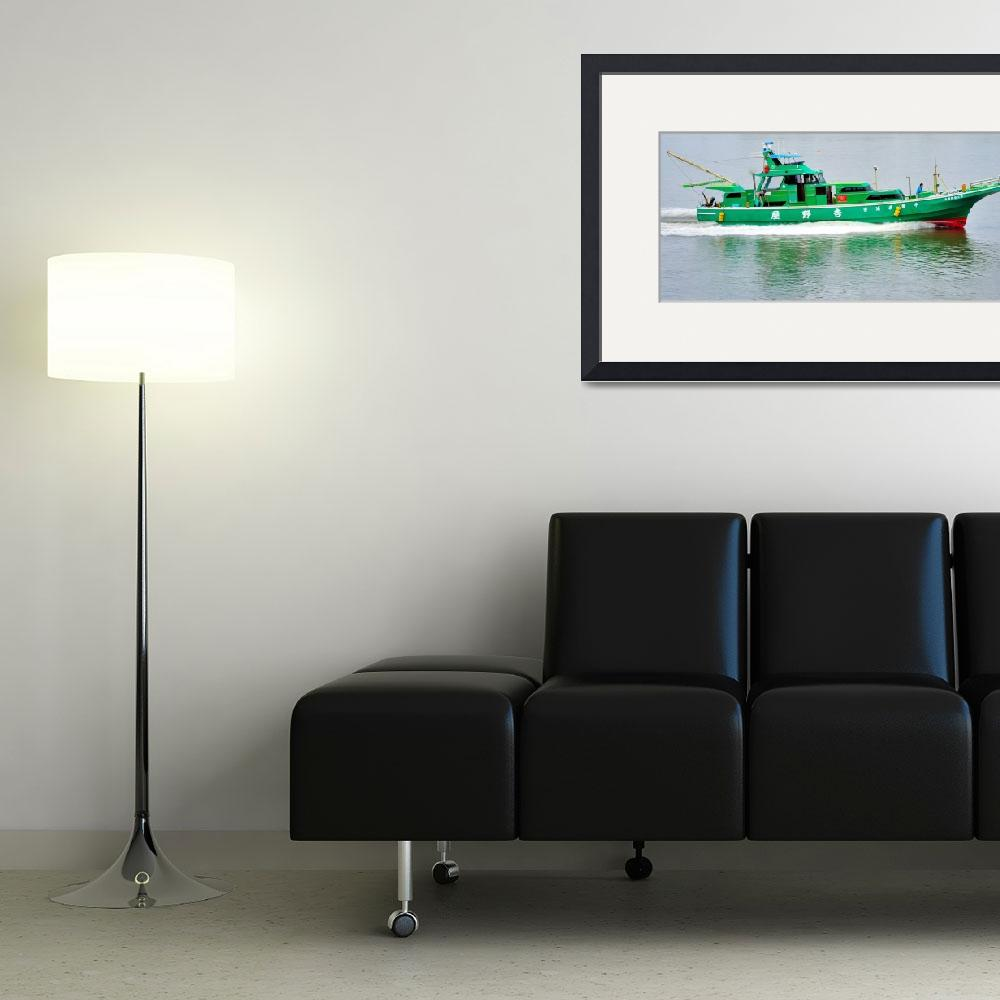 """Modern Japanese Fishing Boat&quot  (2012) by JoaoPonces"