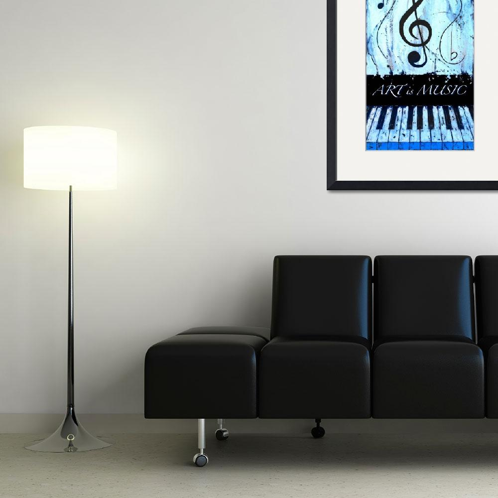 """""""ART is MUSIC Blue&quot  by waynecantrell"""