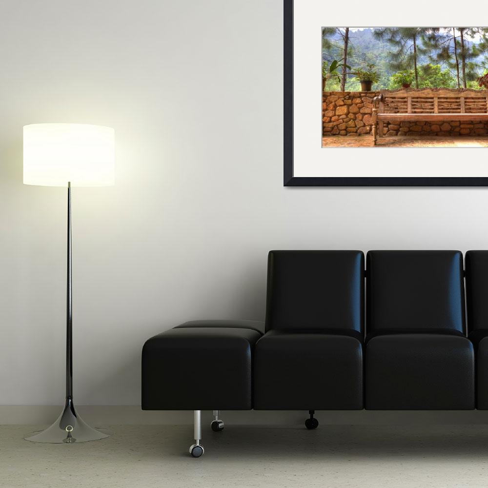 """""""HDR parked bench""""  (2011) by cjmac"""