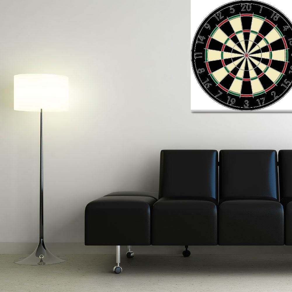 """Realistic dart board&quot  by lirch"