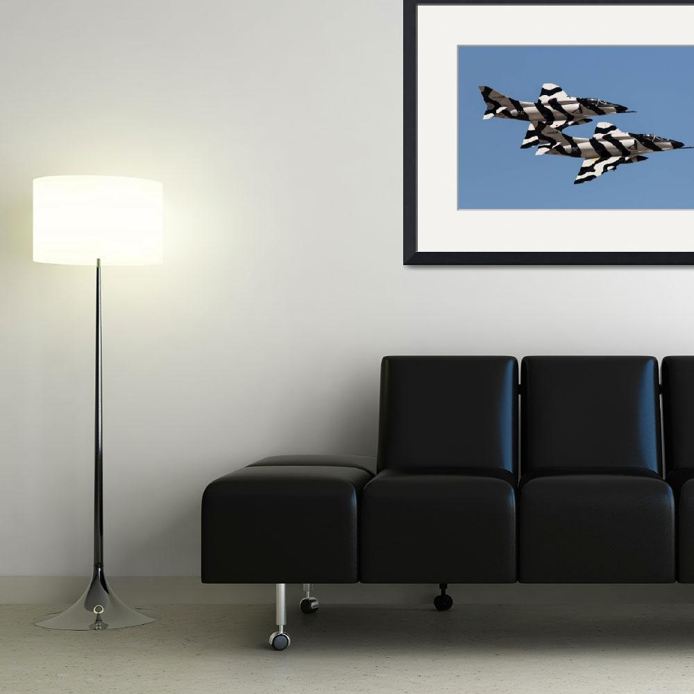 """A-4 zebra paint scheme&quot  by JohnDaly"