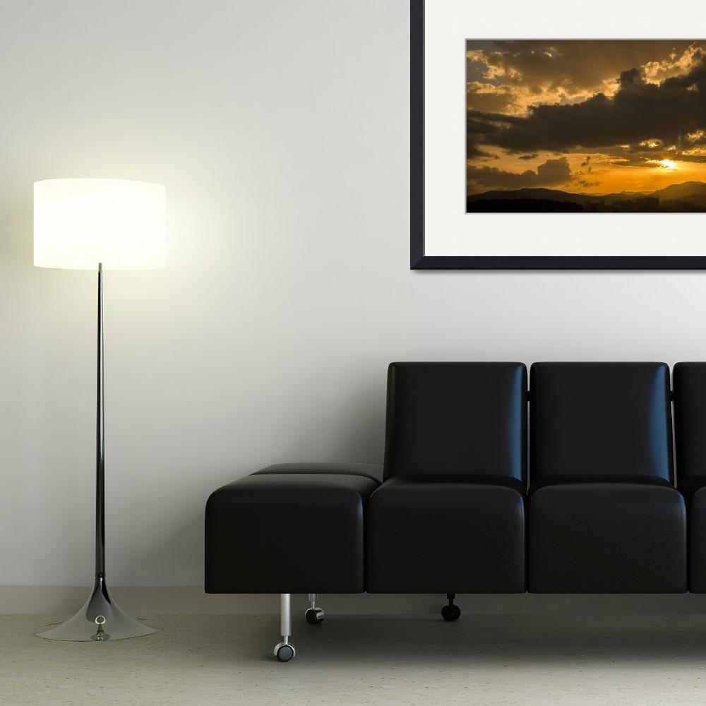 """""""Urban sunset&quot  (2012) by IanMiddletonphotography"""