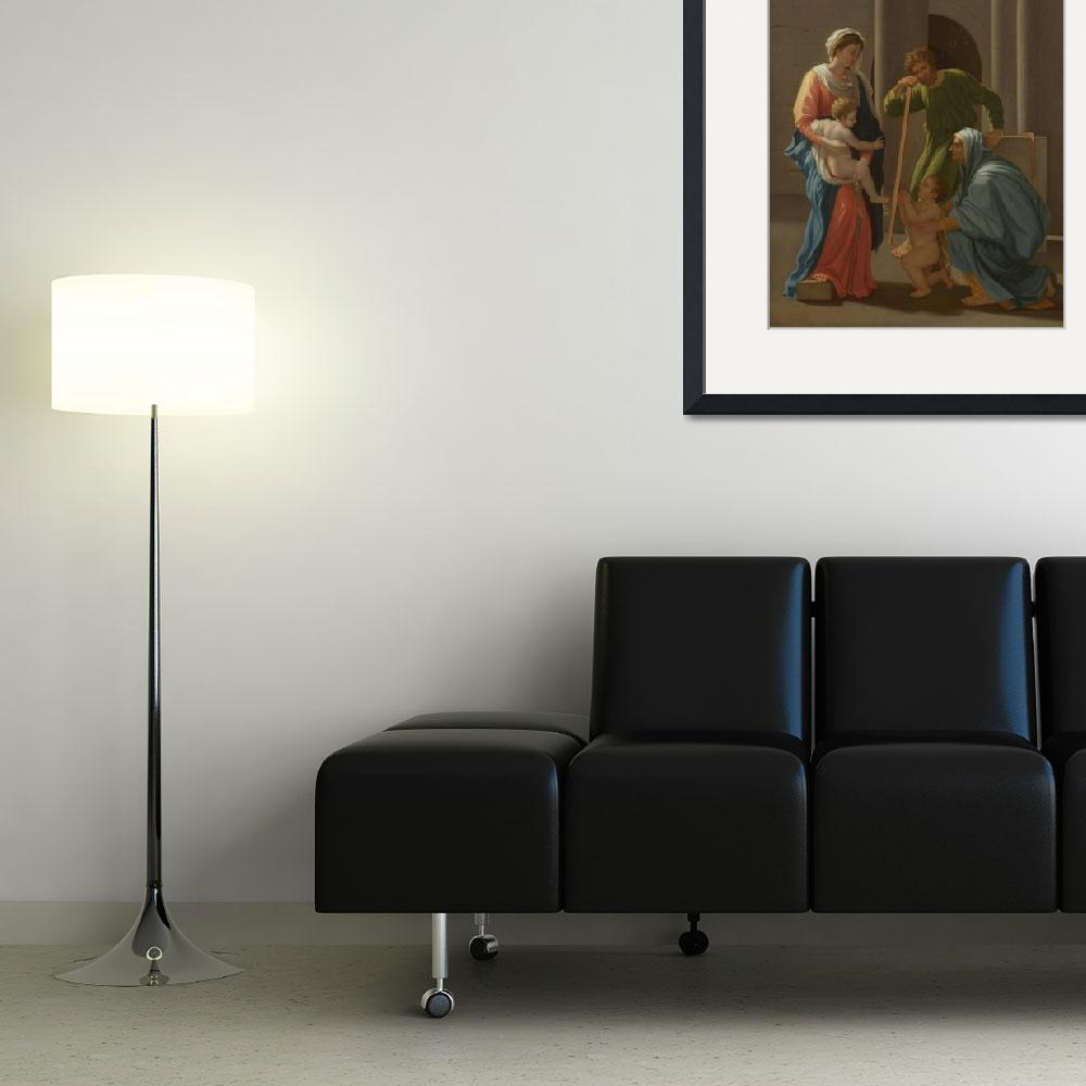 """""""After Nicolas Poussin - The Holy Family with Saint&quot  by ArtistiquePrints"""