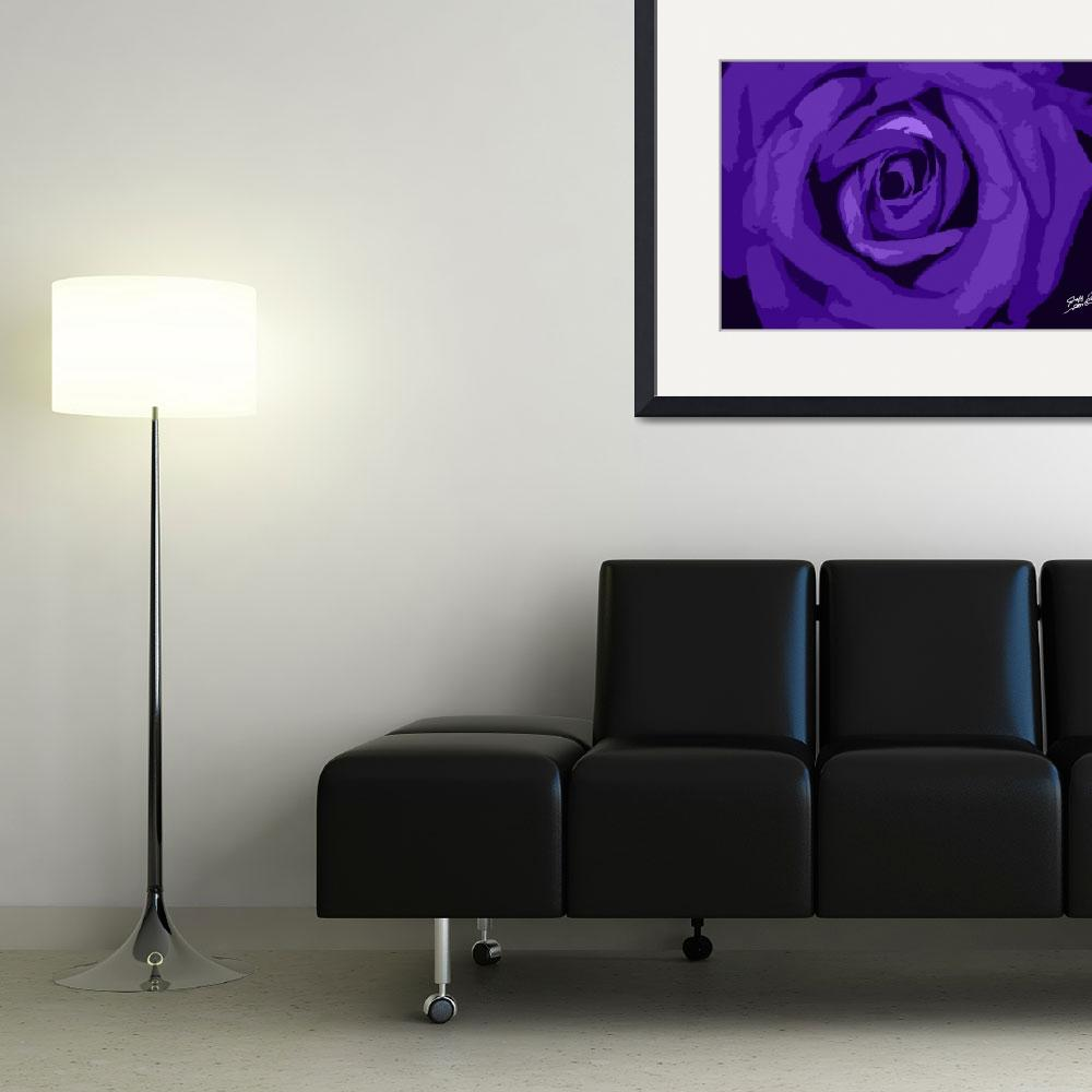 """Purple rose Signed&quot  (2012) by SouthIdahoPhoto"