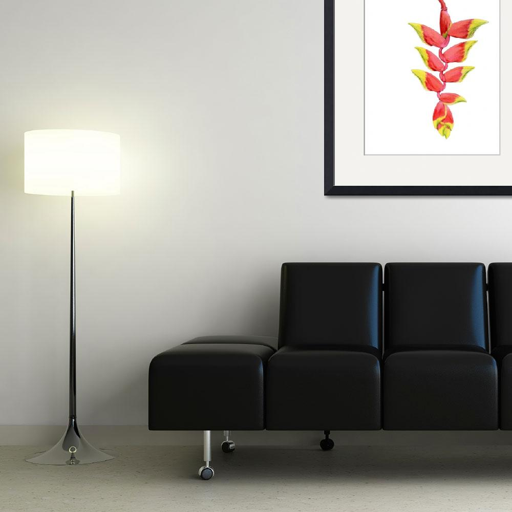 """""""Heliconia Branch""""  (2009) by floatinglemons"""