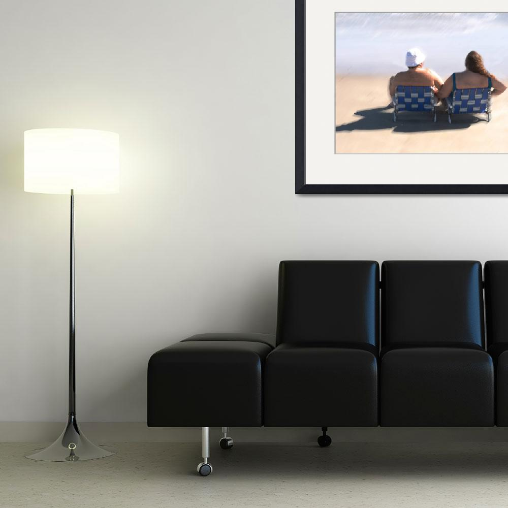 """""""Beach Couple&quot  (2009) by Gibsonontherocks"""