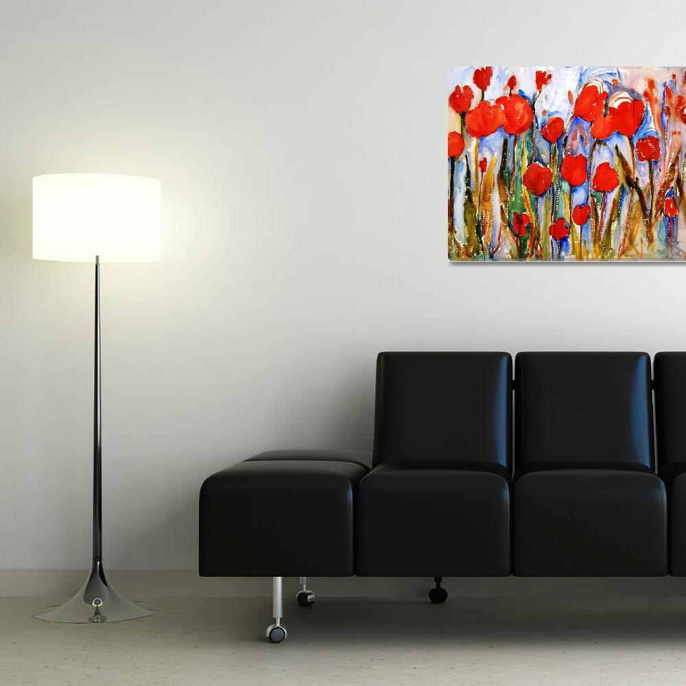 """Red Tulips""  (2008) by schulmanart"