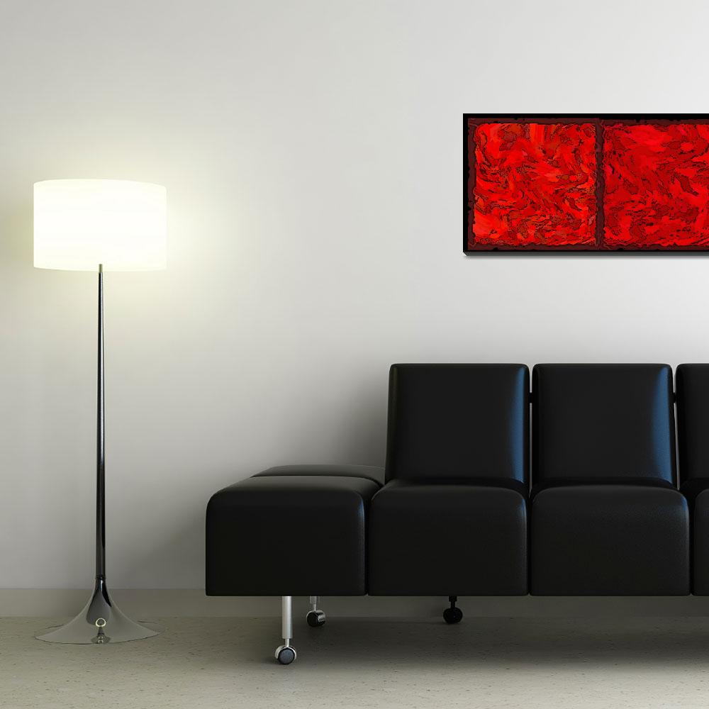 """COLOR OF RED VI CONTEMPORARY DIGITAL ART&quot  by grl"