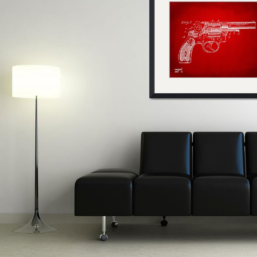 """""""Wesson 1896 Revolver Patent Minimal&quot  (2014) by nikkismith"""