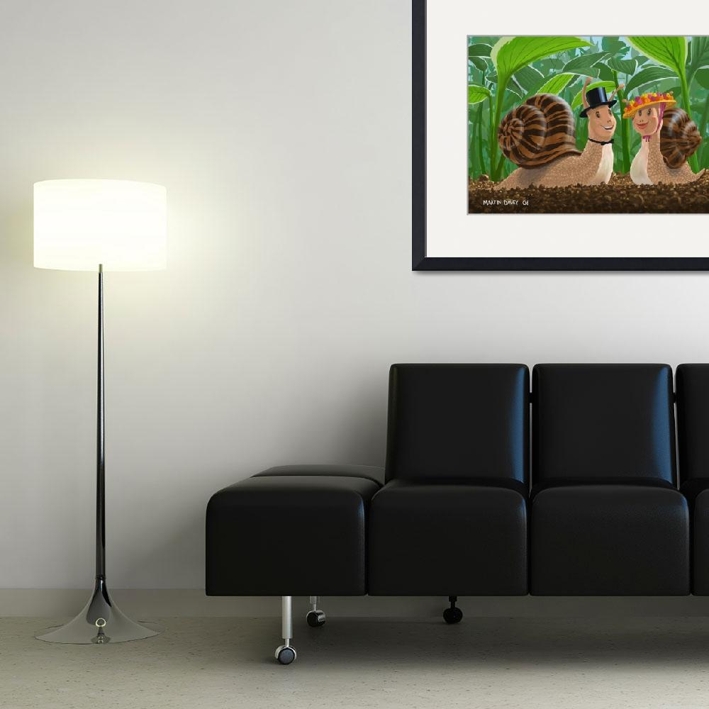 """""""snails in love&quot  (2007) by martindavey"""