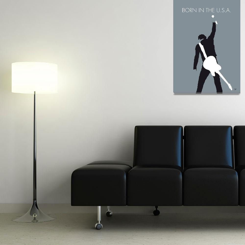 """""""No017 MY Bruce Springsteen Minimal Music poster&quot  by Chungkong"""