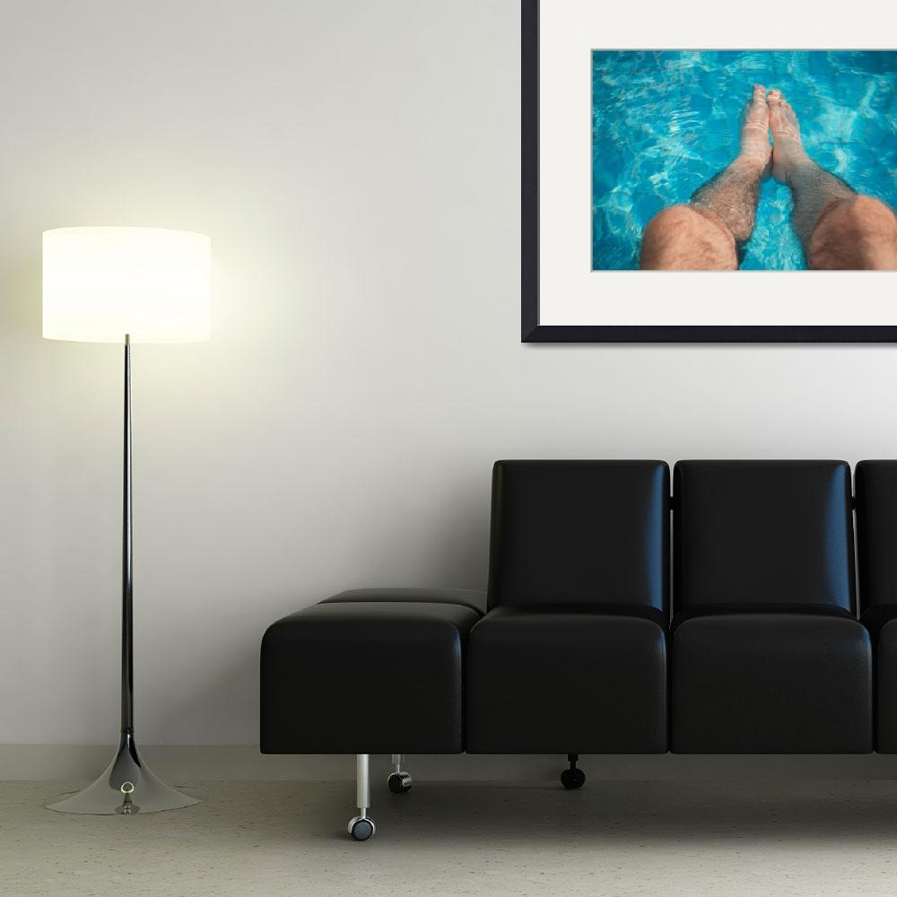 """""""Young man relaxation at the swimming pool""""  by maor-winetrob"""