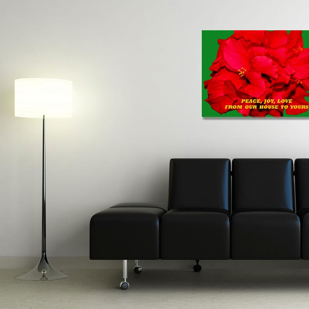 """""""Christmas Hibiscus Card 2008&quot  (2008) by rayjacque"""