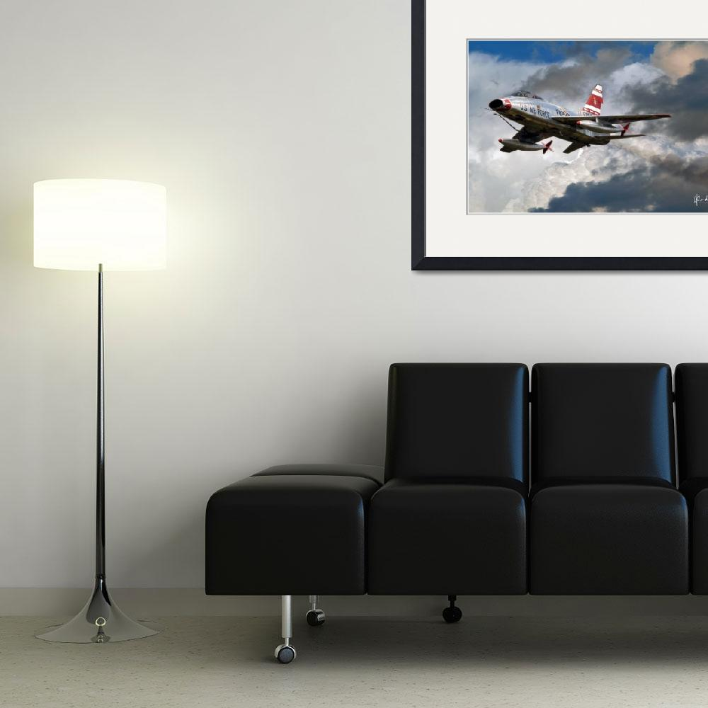 """""""F-100F in the Clouds&quot  (2011) by Need4Speed"""