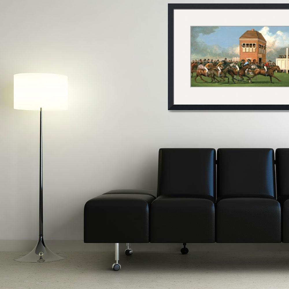 """""""Early Thoroughbred Horse Race&quot  (2011) by jacksby"""