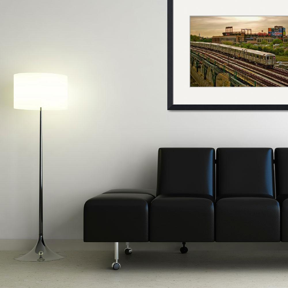 """""""The 7 train and Citi Field&quot  (2012) by DarrenMeenan"""