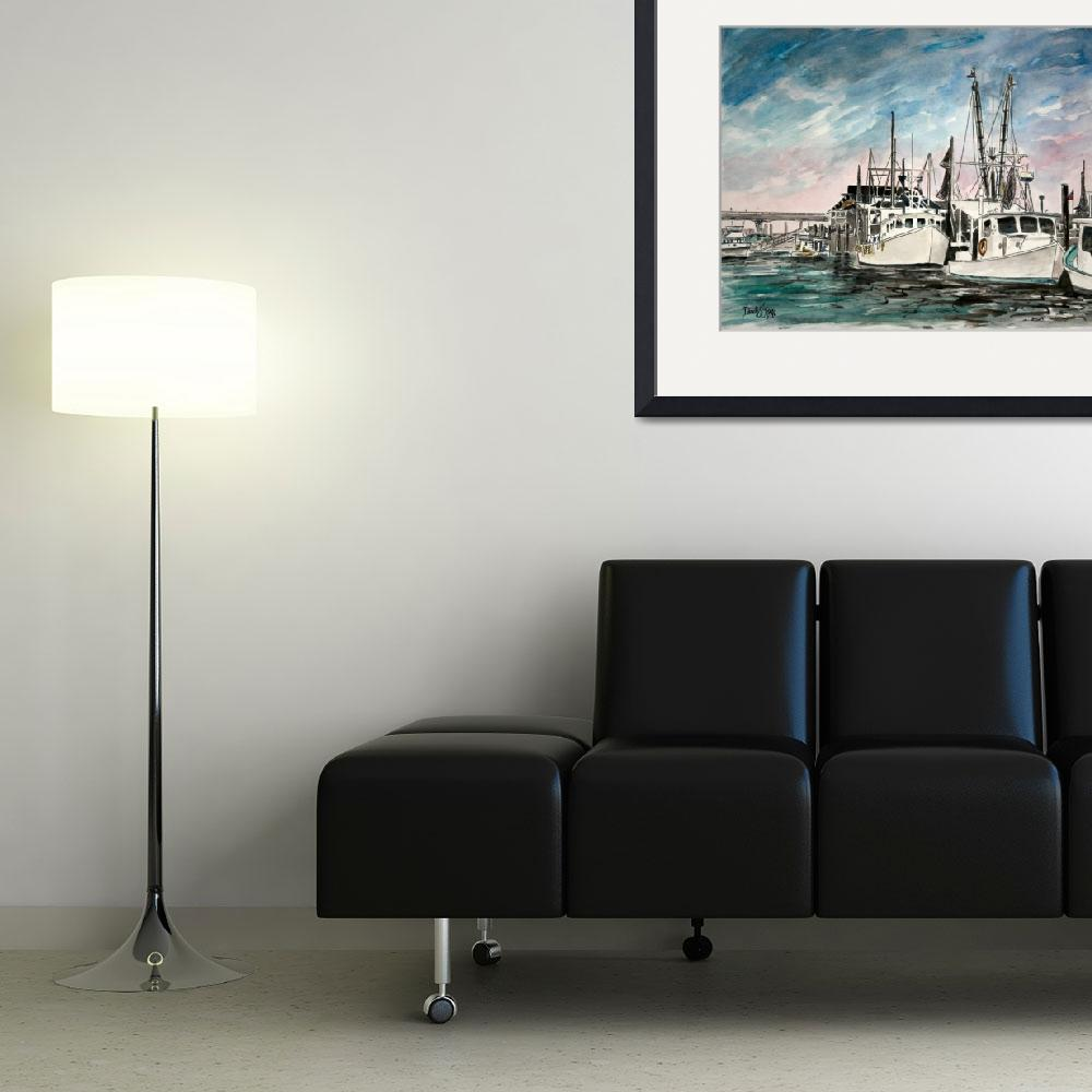 """boats nautical art print&quot  (2013) by derekmccrea"