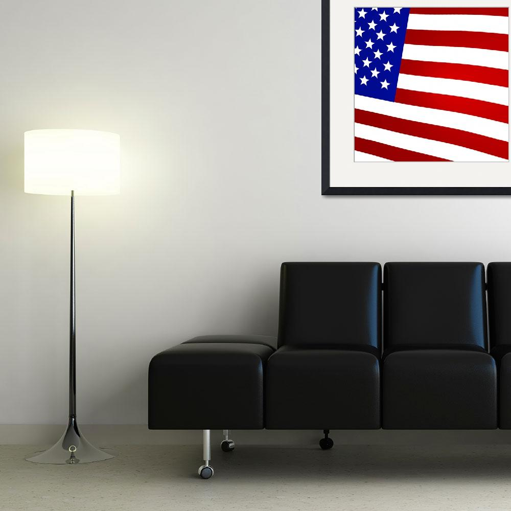 """3D Rendered United States Flag&quot  (2013) by lutjo1953"