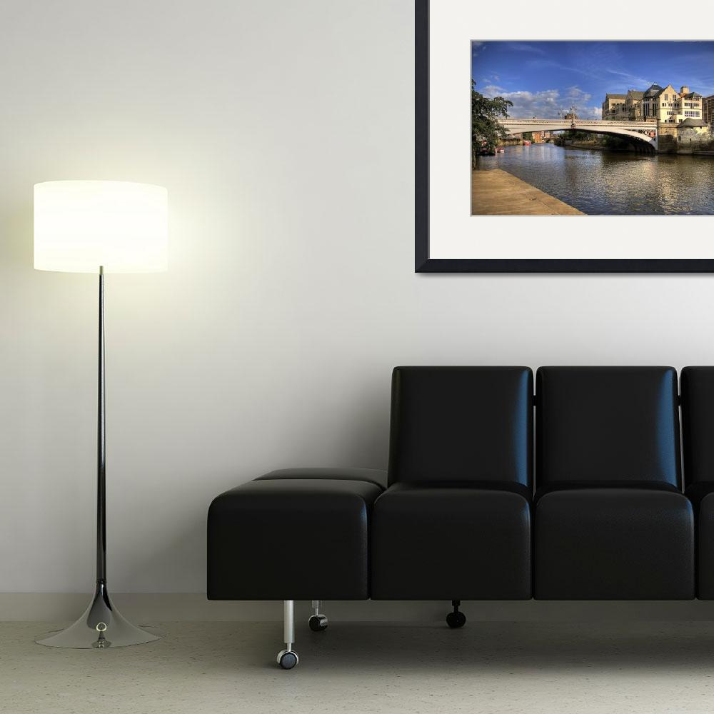 """""""Bridge over River Ouse&quot  (2009) by arthur-in"""