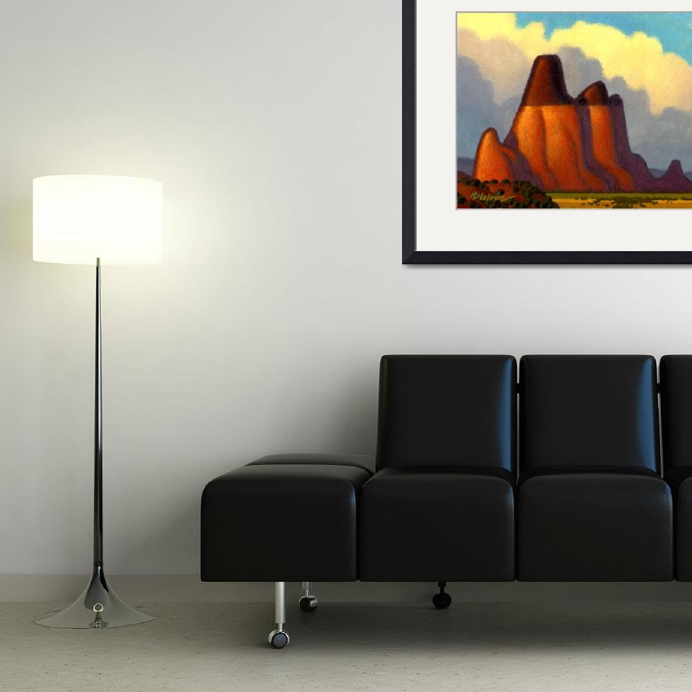 """""""Big Red Butte&quot  (2007) by robcolvin"""