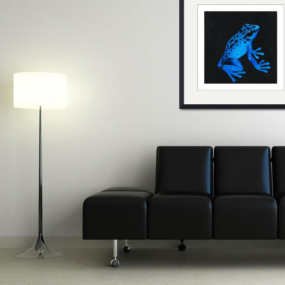 """""""Blue Poison Arrow Frog&quot  (2010) by odessa"""