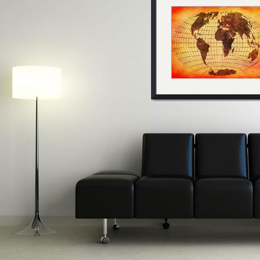 """""""World Map 09&quot  (2013) by Marian1"""