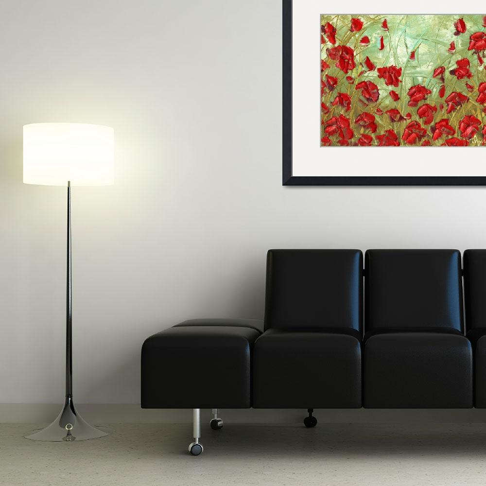 """Red Poppies""  (2010) by modernhouseart"