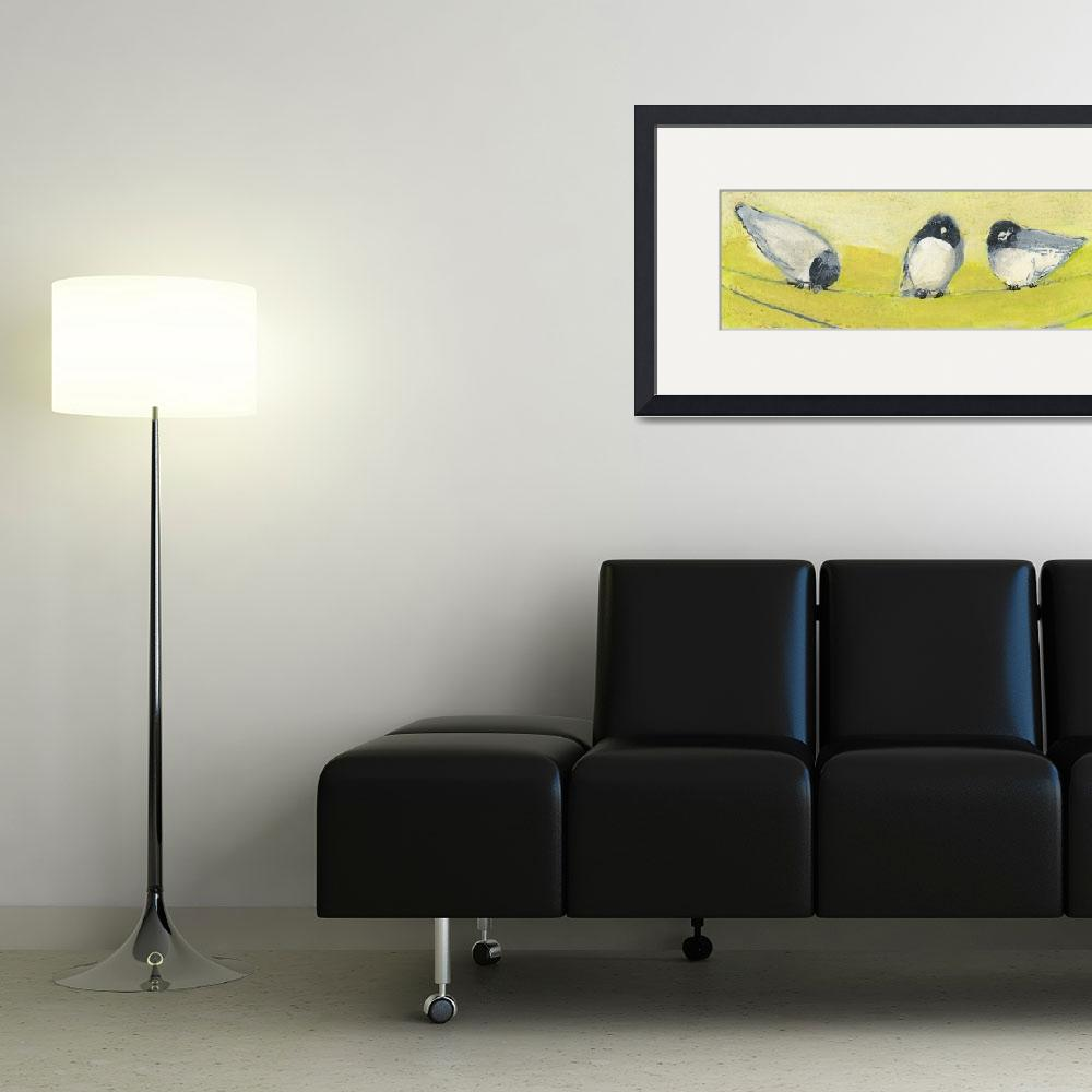 """""""Three Birds on a Wire&quot  (2008) by JENLO"""