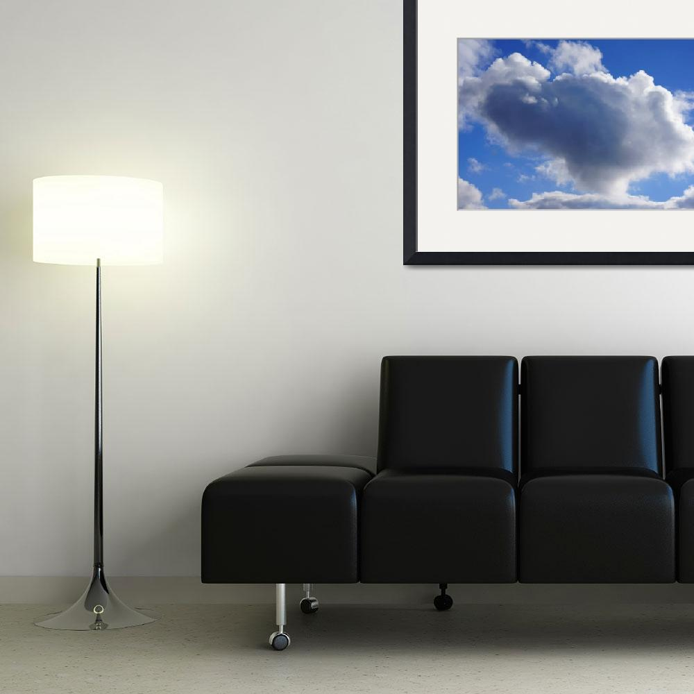 """""""Blue Sky Puffy White Clouds Skies Art Prints Weath&quot  (2014) by BasleeTroutman"""