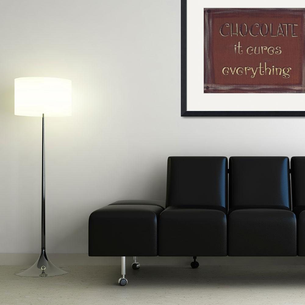 """""""Chocolate Sign (Redish Brown)&quot  (2013) by PjCreates"""