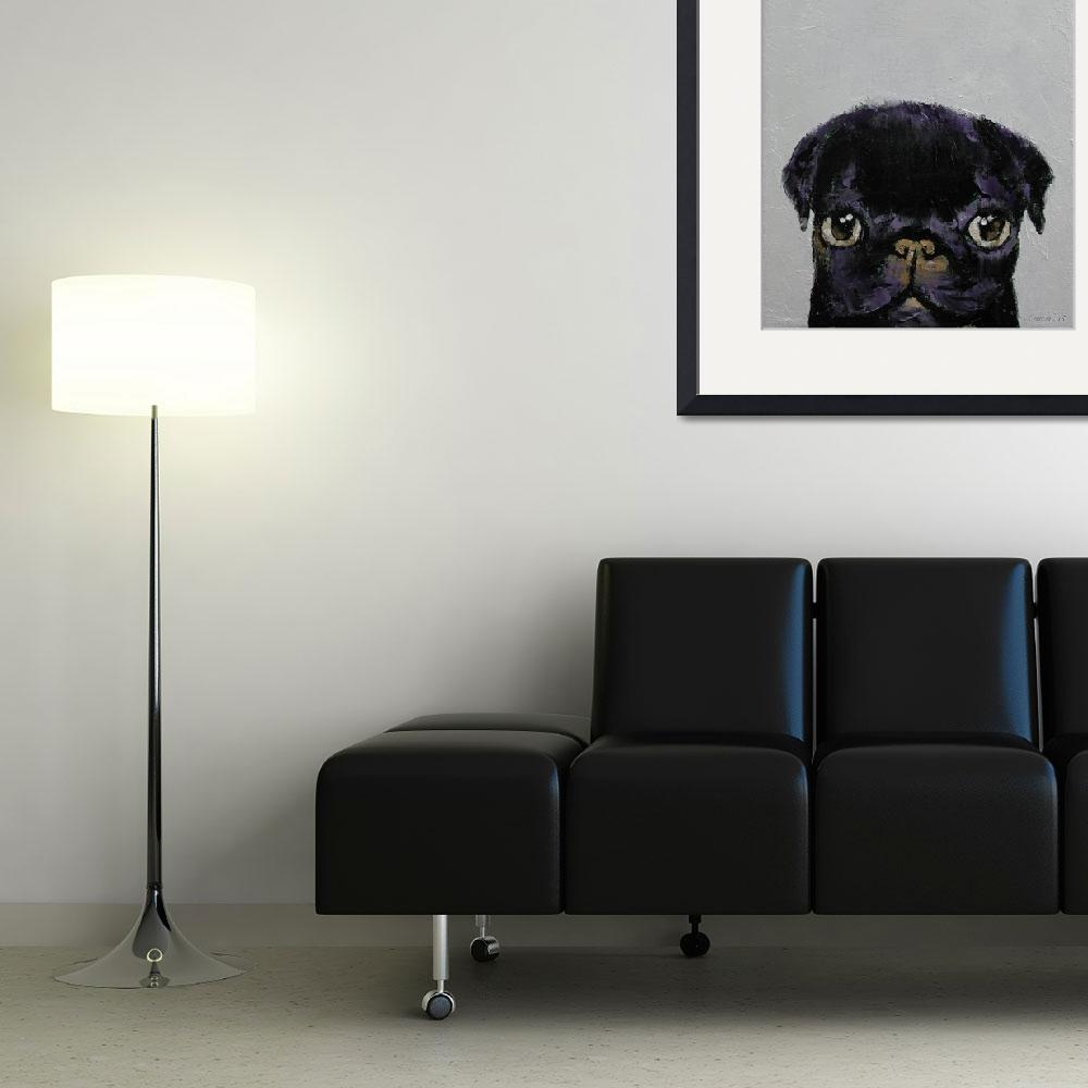 """""""Black Pug&quot  by creese"""