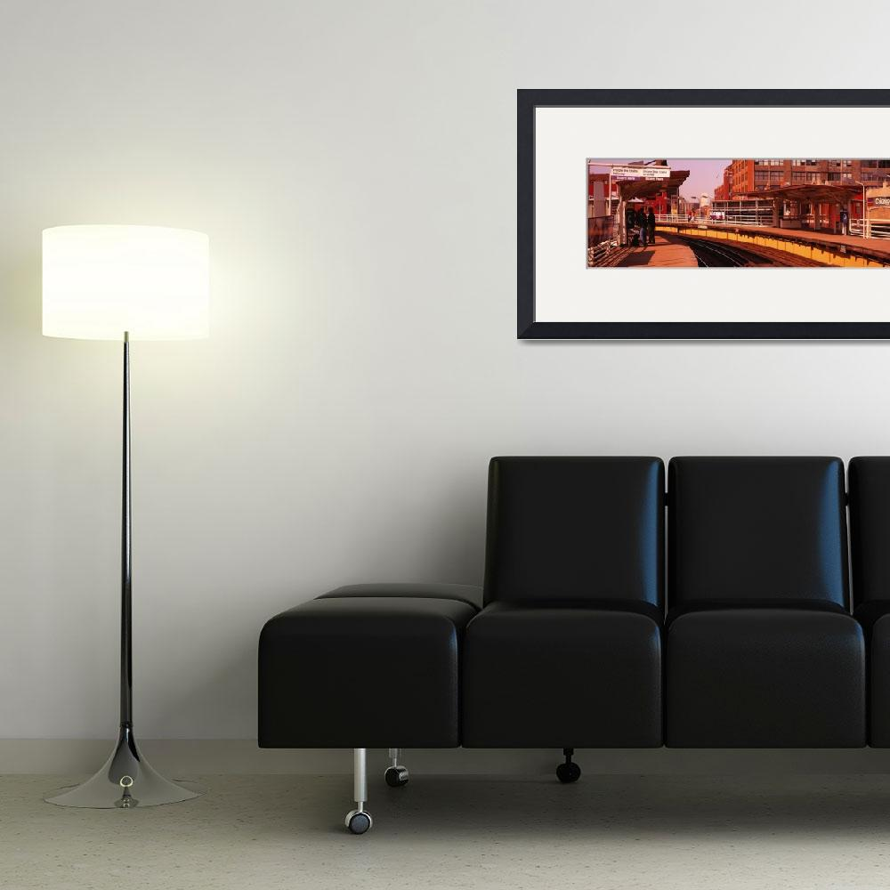 """""""Brown line train stop Chicago IL&quot  by Panoramic_Images"""