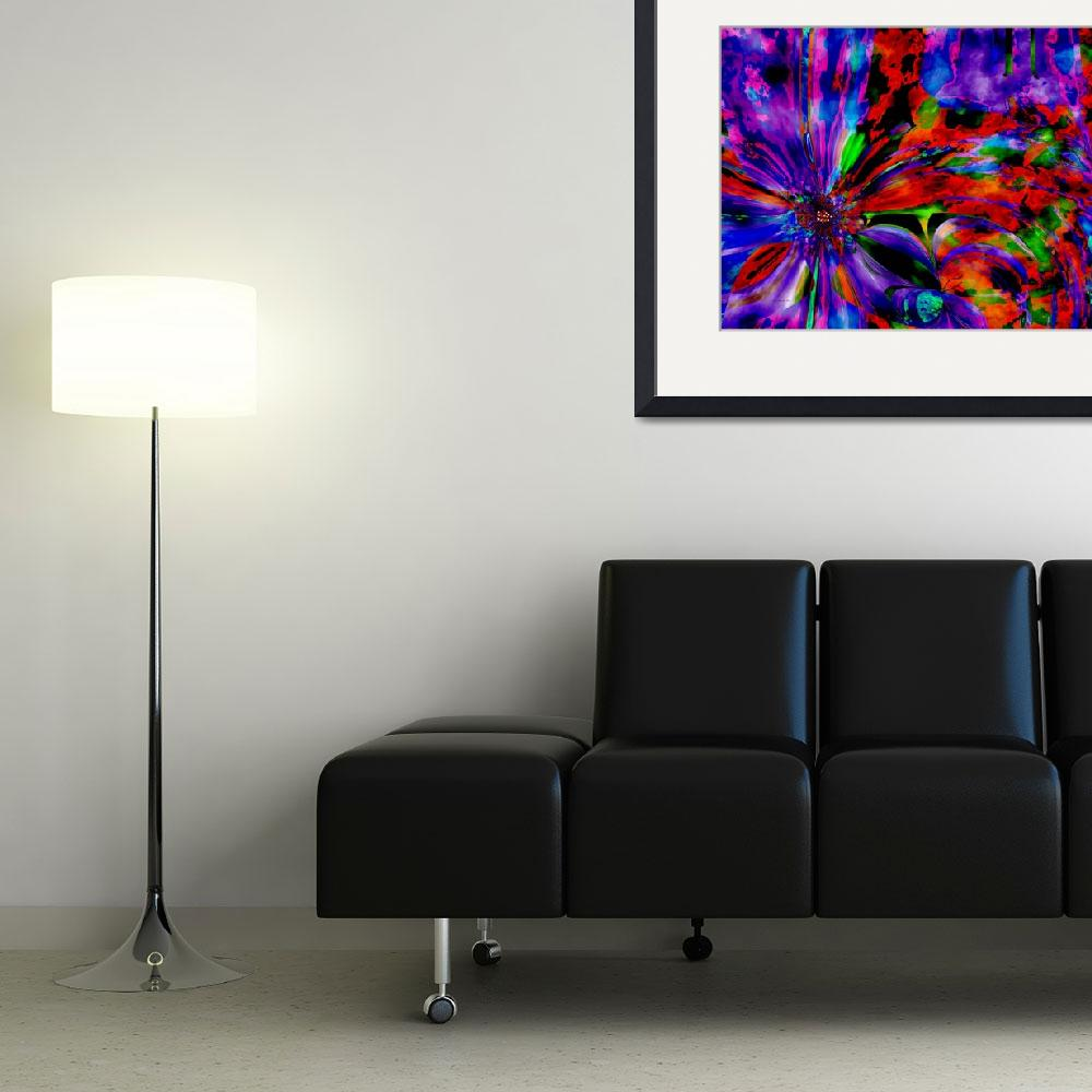 """purple flower overlay large&quot  (2008) by shanmaree"