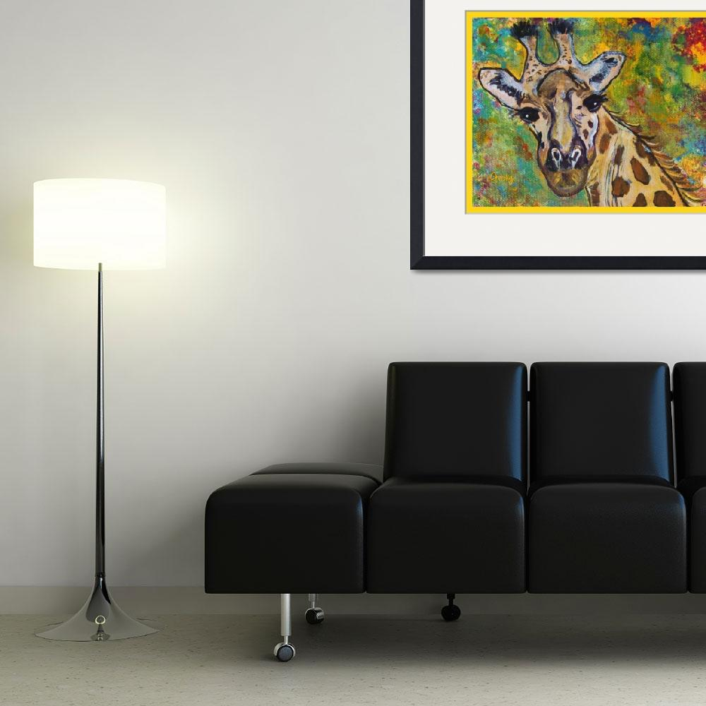 """""""Giraffe&quot  (2011) by paintingsbygretzky"""