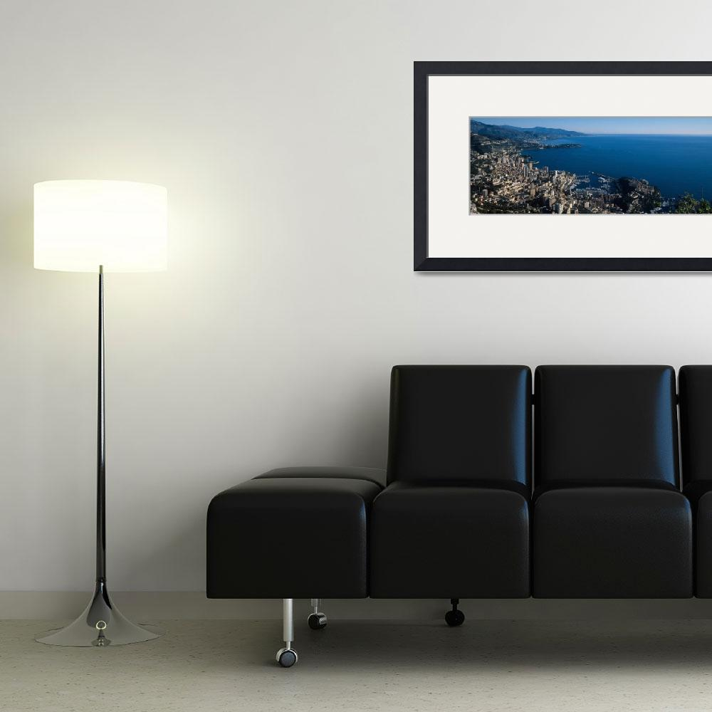 """City at the waterfront Monte Carlo Monaco""  by Panoramic_Images"