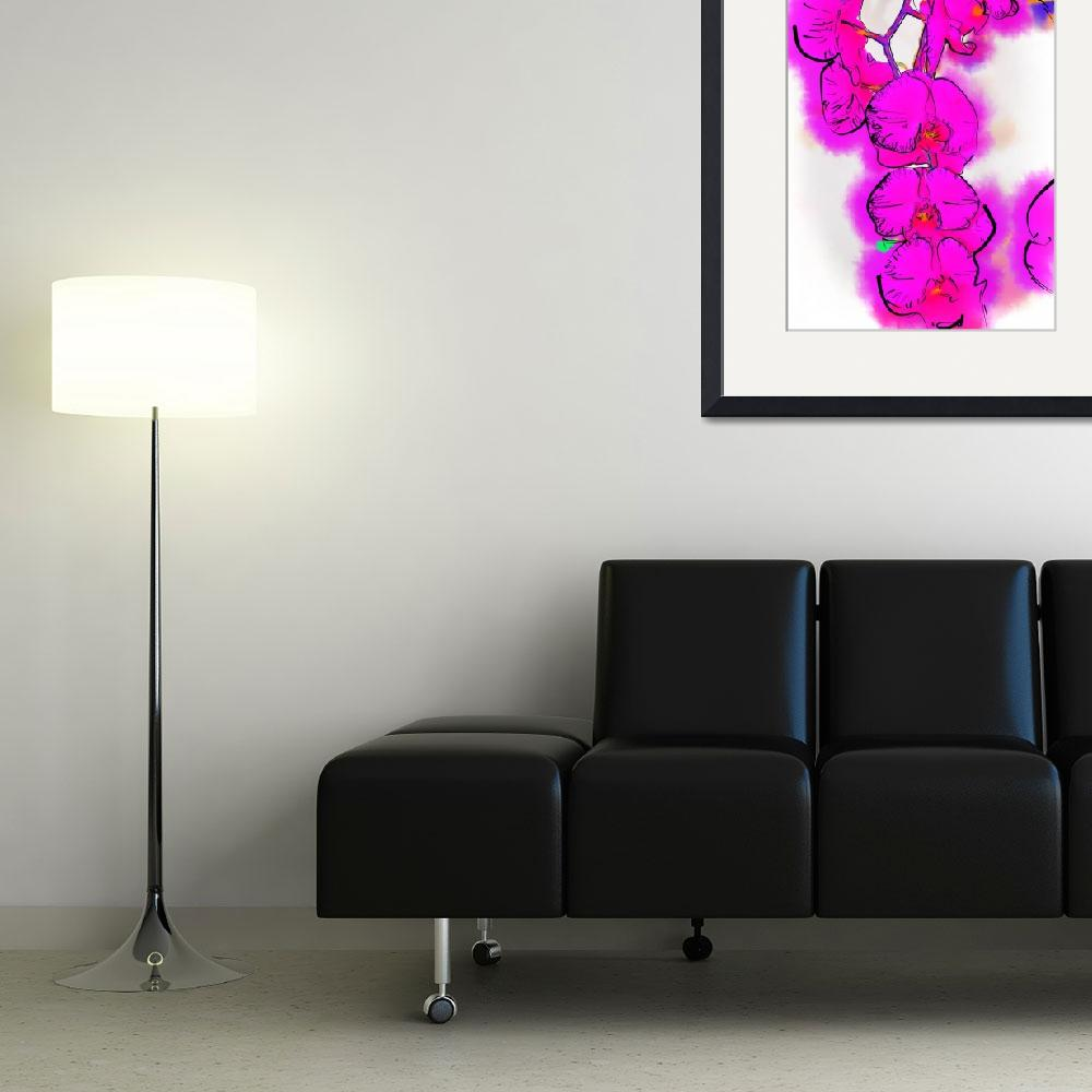 """""""Abstract Orchid 1""""  (2013) by Kirtdtisdale"""