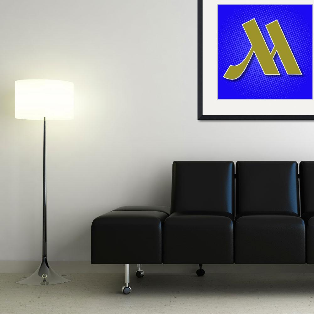"""""""M-Marriot""""  (2012) by LetterPopArt"""